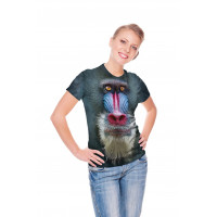 Big Face Mandrill Baboon T-Shirt