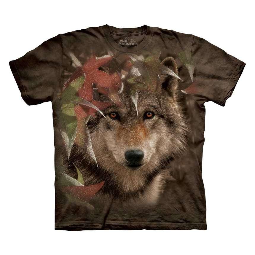 Wolf Autumn Encounter T Shirt The Mountain