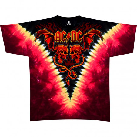 AC-DC - Evil Wings - Tie-Dye T-Shirt