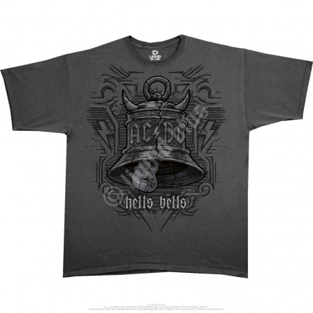 AC-DC - Big Bells - Grey Athletic T-Shirt