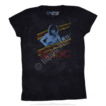AC-DC - Classic Angus - Juniors Tie-Dye Juniors Long Length T-Shirt