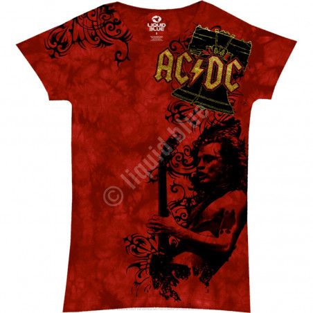 AC-DC - Problem Child - Tie-Dye Juniors Long Length T-Shirt