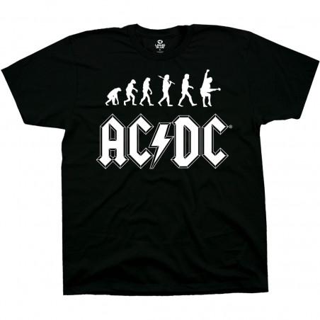 AC-DC Rock Evolution Black T-Shirt Liquid Blue
