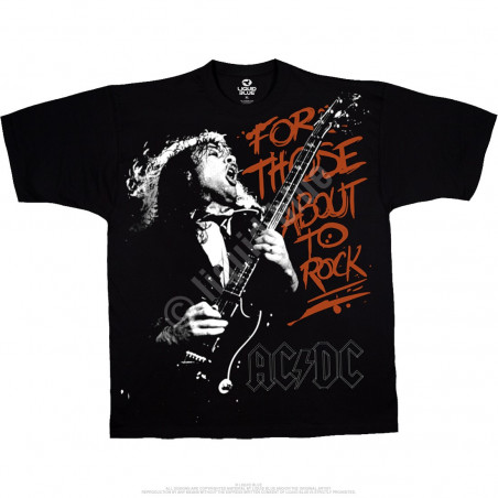 AC-DC - For Those About To Rock - Black T-Shirt