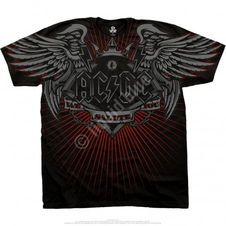 AC-DC - Salute - Black Athletic T-Shirt