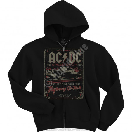 AC-DC - AC/DC Speedshop Zipper - Black Hoodie