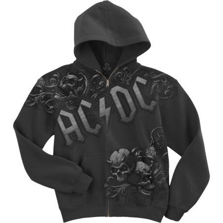 AC-DC - Night Prowler Zipper - Hoodie Grey