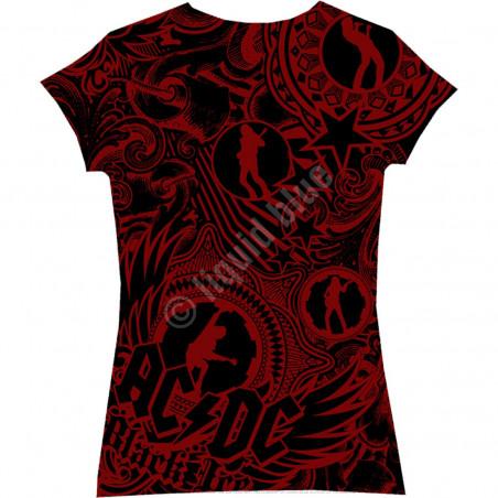 AC-DC - Girls Got Rythym - Black Juniors Long Length T-Shirt