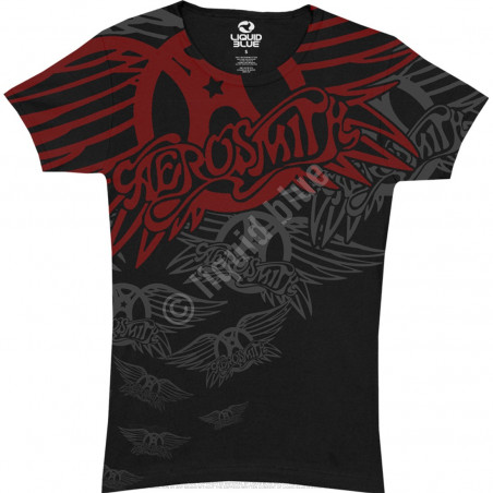 Aerosmith - Walk This Way - Black Juniors Long Length T-Shirt