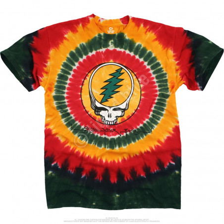 Grateful Dead Rasta SYF Tie-Dye T-Shirt Liquid Blue