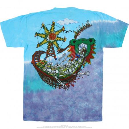 Grateful Dead Amusement Park Tie-Dye T-Shirt Liquid Blue