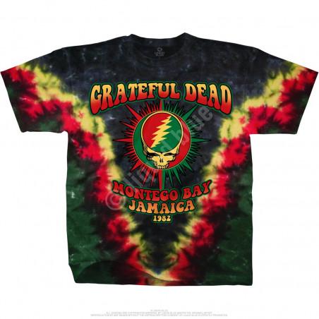Grateful Dead Montego Bay Tie-Dye T-Shirt Liquid Blue