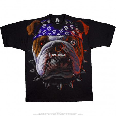 Biker - Tuff Dog - Black T-Shirt