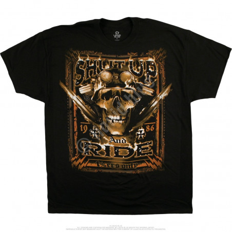 Biker - One Percenters Only - Black T-Shirt