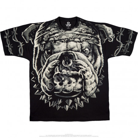 Biker - Cats Suck Bulldog - Black T-Shirt