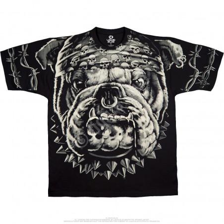 Biker - Cats Suck Bulldog - Black T-Shirt