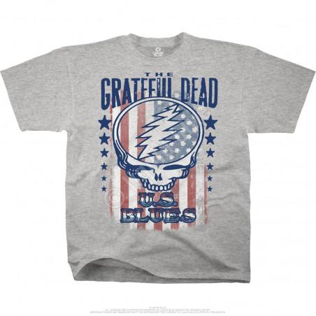 Grateful Dead - U.S. Blues - Heather Grey Poly-Cotton T-Shirt