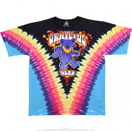Grateful Dead - Liquid Bear V - Tie-Dye T-Shirt