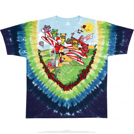 Grateful Dead - Bi-Plane Bears Youth - Tie-Dye T-Shirt