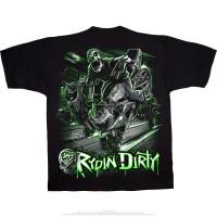 Biker - Rydin Dirty - Black T-Shirt