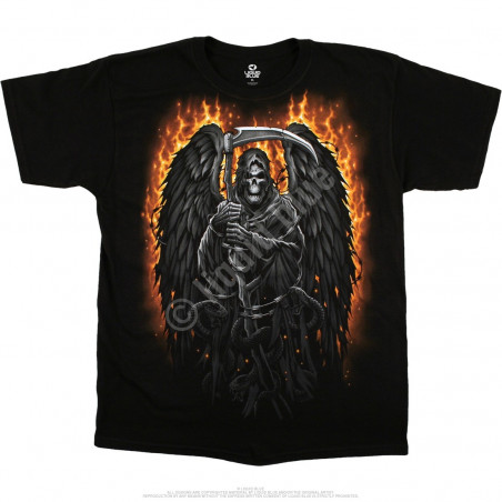 Dark Fantasy - Fire Reaper - Black T-Shirt