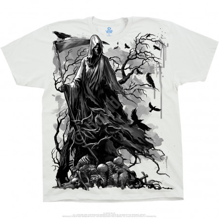 Dark Fantasy - Reaper Crows - White T-Shirt
