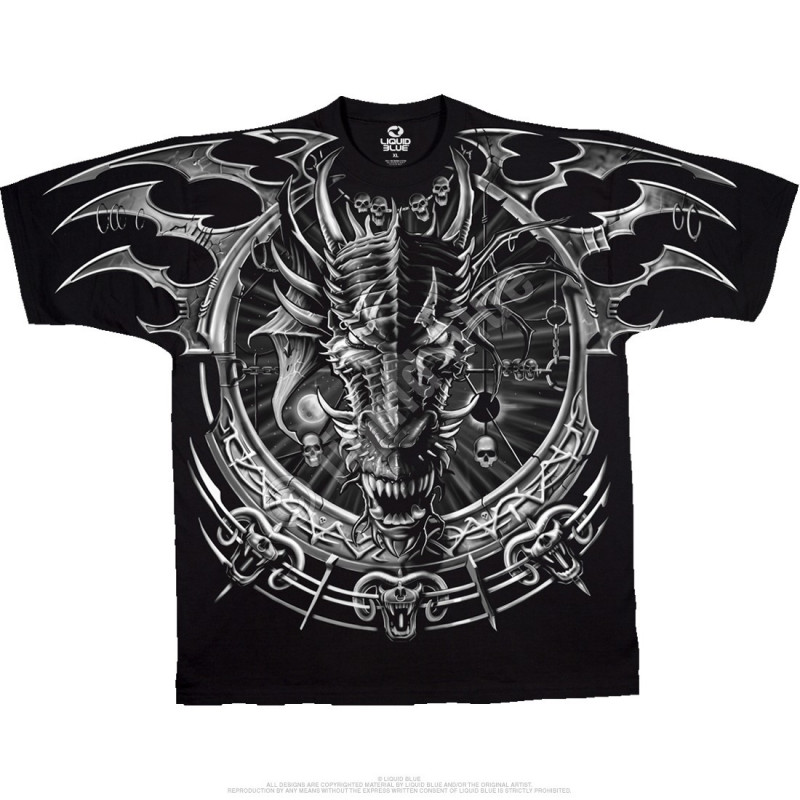 Dark Fantasy - Dragon Catcher - Black T-Shirt