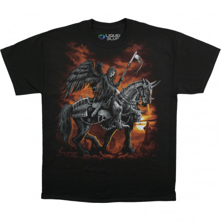 Dark Fantasy - Reaper Horse - Black T-Shirt