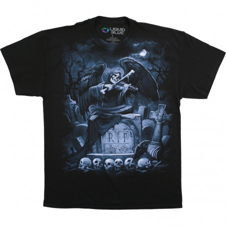 Dark Fantasy - Rip Reaper - Black T-Shirt