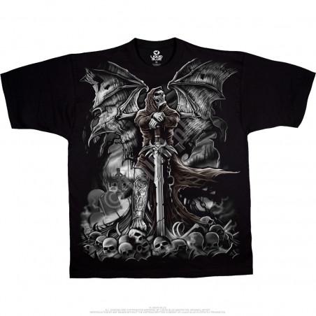 Dark Fantasy - Gravestone Reaper - Black T-Shirt