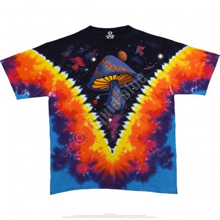 Light Fantasy - Space Shrooms Tie-Dye T-Shirt