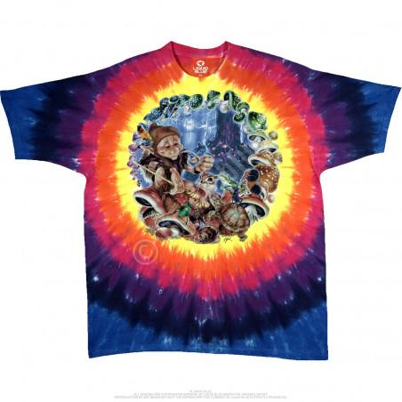Light Fantasy - Mushroom Elf - Tie-Dye T-Shirt