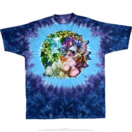 Light Fantasy - Mushroom Garden - Tie-Dye T-Shirt