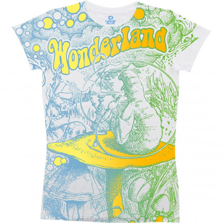 Light Fantasy - Go Ask Alice - White Juniors Long Length T-Shirt
