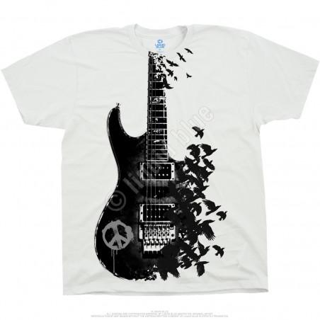 Musica - Crow Guitar - White T-Shirt