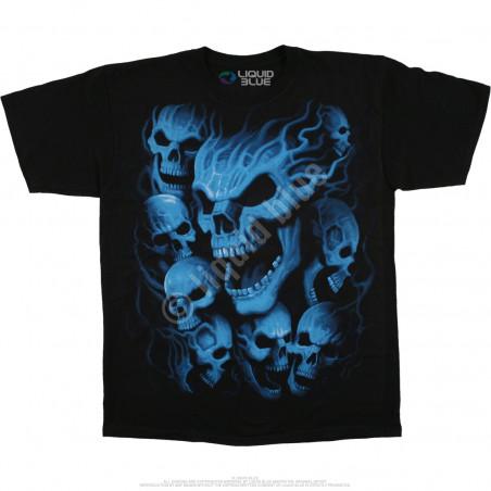 Skulls - Vampire Skulls - Black T-Shirt
