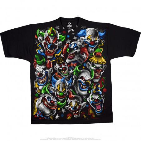 Street Life - Colored Clowns - Black T-Shirt