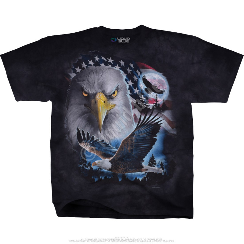 Americana - Patriotic Pose - Tie-Dye T-Shirt