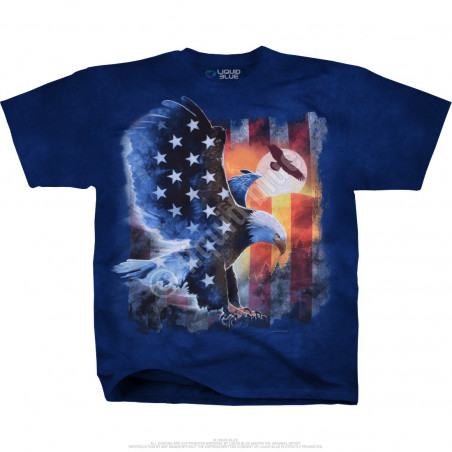 Americana - Soaring American Eagle - Tie-Dye T-Shirt