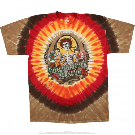 Grateful Dead Bay Area Beloved Tie-Dye T-Shirt Liquid Blue