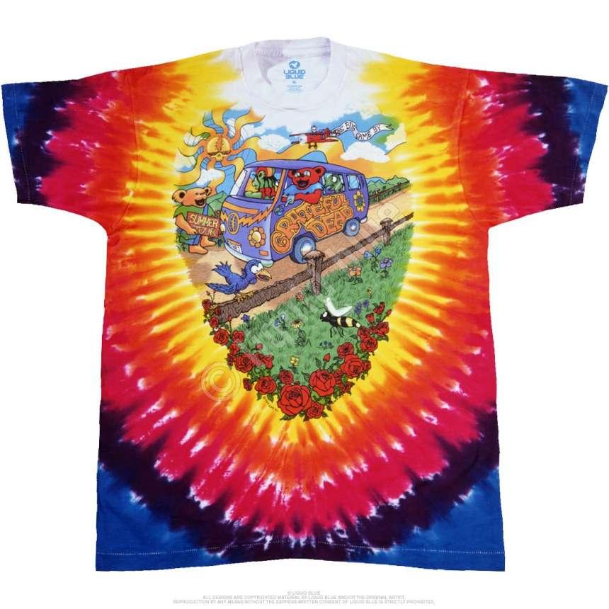 Grateful Dead Summer Tour  Tie Dye Long Sleeve Shirt