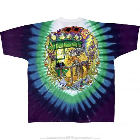 Grateful Dead Watch Tower Tie-Dye T-Shirt Liquid Blue