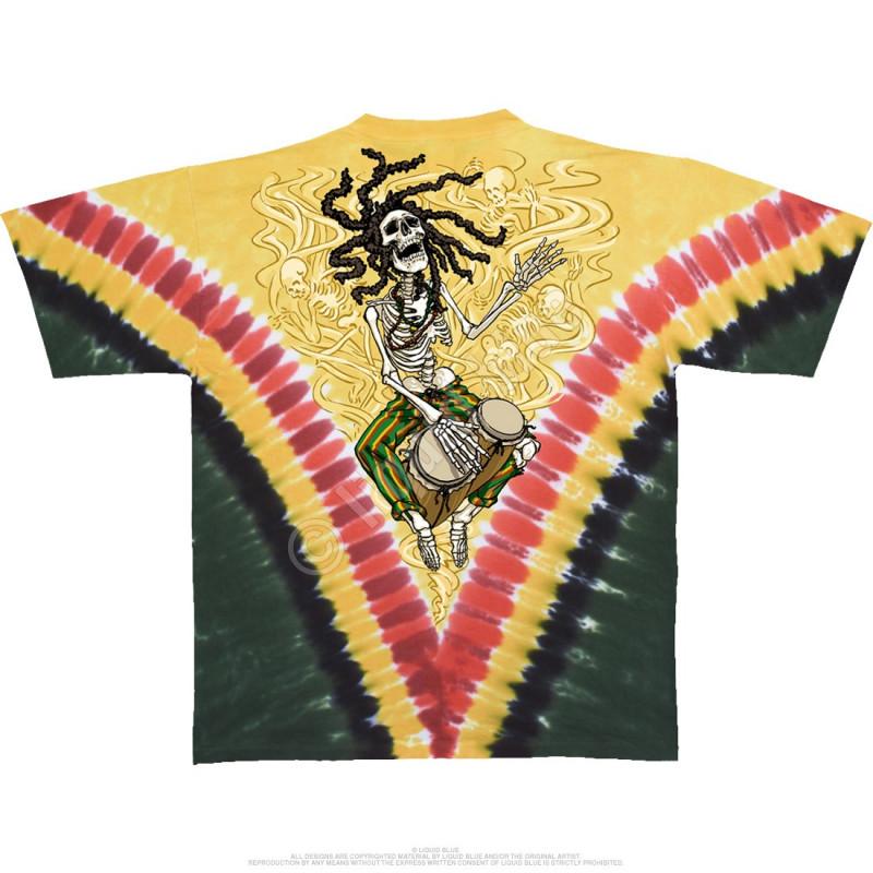 Grateful Dead - Rasta Dead Vdye - Tie-Dye T-Shirt
