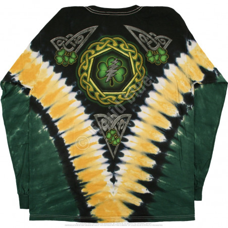 Grateful Dead - GD Shamrock V - Tie-Dye Long Sleeve T-Shirt