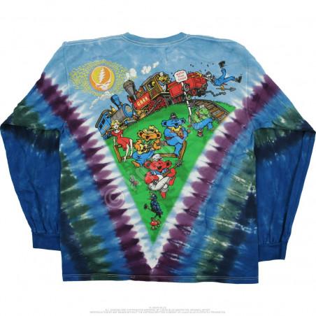 Grateful Dead - Casey Jones - Tie-Dye Long Sleeve T-Shirt