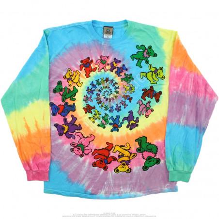 Grateful Dead - Spiral Bears - Tie-Dye Long Sleeve T-Shirt