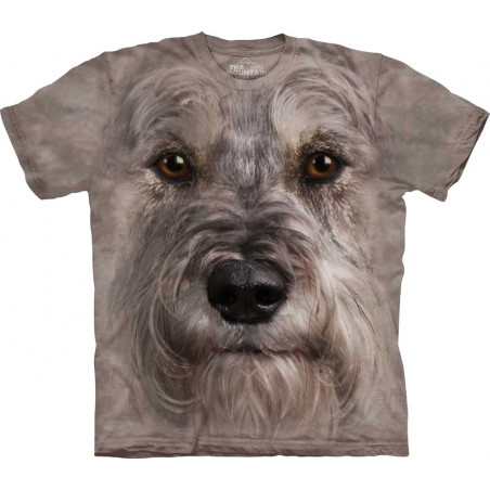 Miniature Schnauzer Face T-Shirt The Mountain