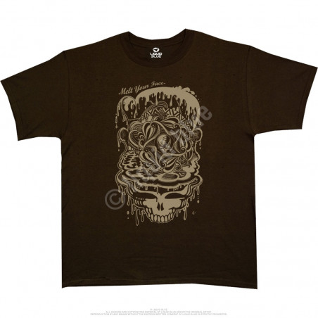Grateful Dead Dead Melt Brown Athletic T-Shirt
