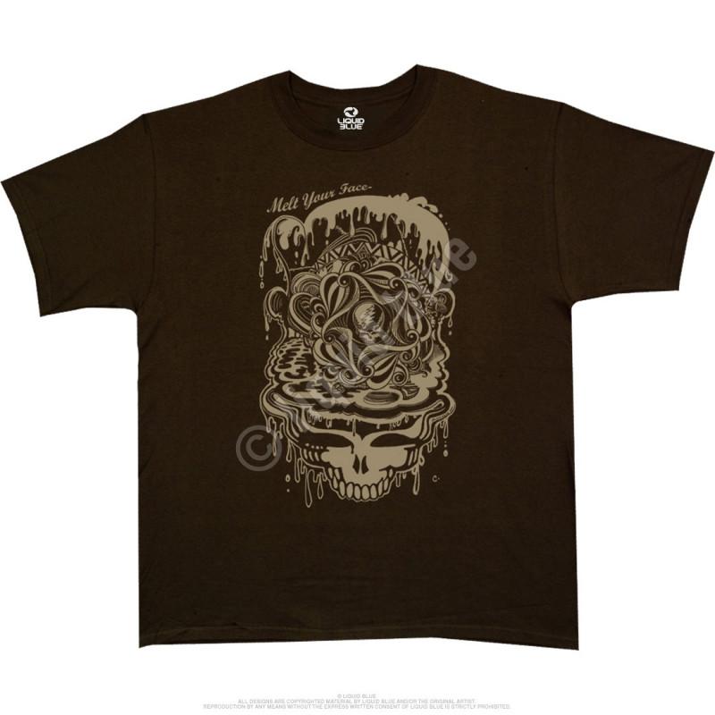 Grateful Dead Dead Melt Brown Athletic T-Shirt