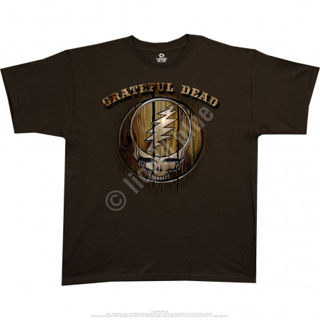Grateful Dead Dead Brand Brown Athletic T-Shirt